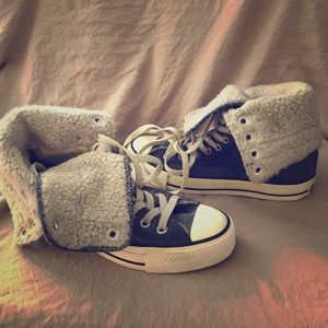 Converse All Stars hightops w/ shearling